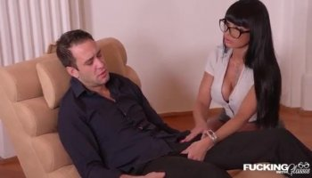 Breathtaking babe gets to taste studs thick knob