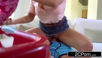 Blonde teen fucked in POV before squirting