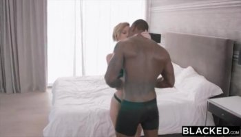 Honey is electrifying dudes shaft with her throat