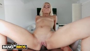 Bewitching chick is giving stud a cock engulfing